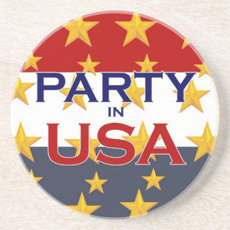 PARTY USA BEVERAGE COASTER