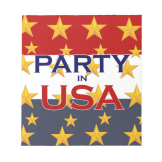 PARTY USA NOTEPAD