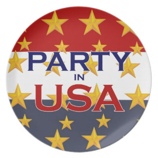 PARTY USA PARTY PLATES
