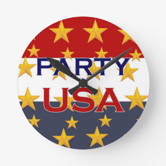PARTY USA ROUND CLOCK