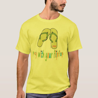 Party with your flipflops t shirt
