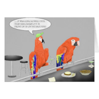 """Partying Parrotheads"" Horizontal Card"
