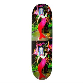 partying rouge de sirène plateaux de skate