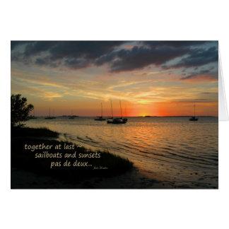 """Pas de deux"" ~ Crystal Beach, Florida Card"