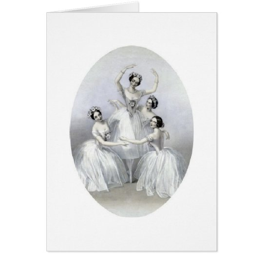 Pas de Quatre, Greeting Card