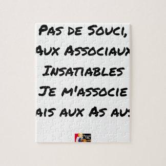 PAS DE SOUCI, WITH ASOCIAL INSATIABLE JIGSAW PUZZLE