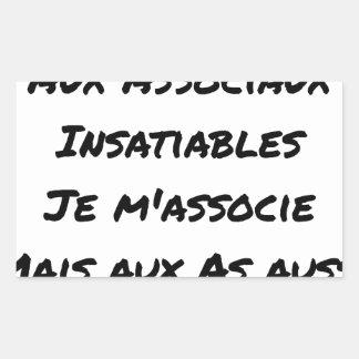 PAS DE SOUCI, WITH ASOCIAL INSATIABLE STICKER