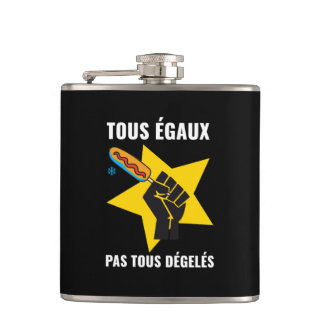 Pas le more thawed out of limps Quebec pol. Joke Hip Flask