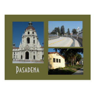 Pasadena Civic Center and Bridge 3 Photo Postcard