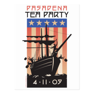 Pasadena Tea Party Postcard