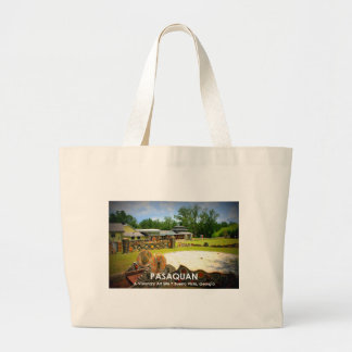 PASAQUAN - A Visonary Art Site - Buena Vista, GA Large Tote Bag