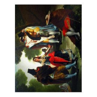 Paseo por Andaluc?a (detalle). Pintor Goya. Fotogr Postcard
