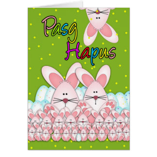 Pasg Hapus Welsh Language Happy Easter Greeting Ca Greeting Card