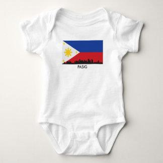 Pasig Philippines Skyline Filipino Flag Baby Bodysuit