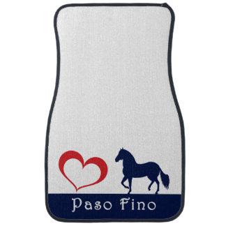 Paso Fino Horse Heart Silhouette 2 Car Mat