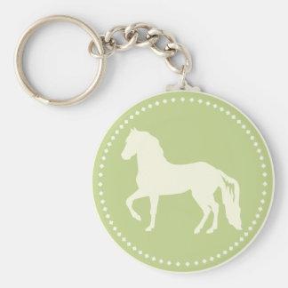 Paso Fino Horse Silhouette Keychain