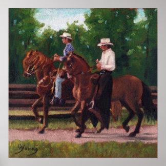Paso Fino Horses Poster Print