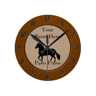 Paso Finos - Personalize It Round Clock