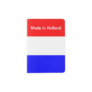 Paspoort Houder in Rood-Wit-Blauw