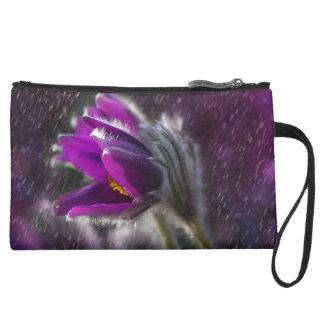 pasque flower wristlet purses