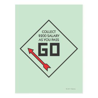 Pass Go Corner Square Postcard