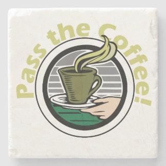 Pass the coffee stone drink coaster stone beverage coaster