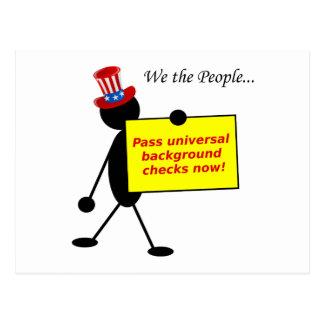Pass Universal Background Checks Now Postcard