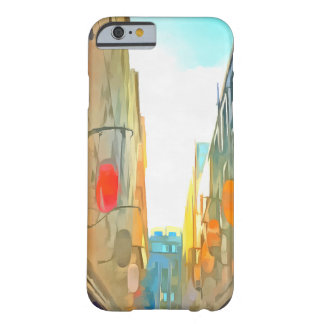 Passage between colorful buildings barely there iPhone 6 case