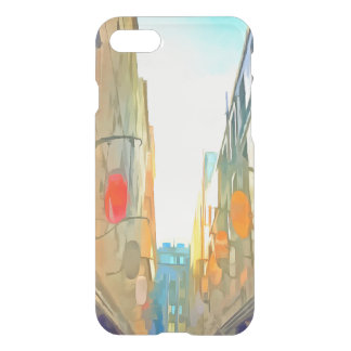Passage between colorful buildings iPhone 8/7 case