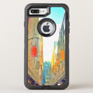 Passage between colorful buildings OtterBox defender iPhone 8 plus/7 plus case
