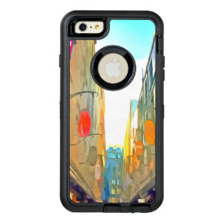 Passage between colorful buildings OtterBox defender iPhone case