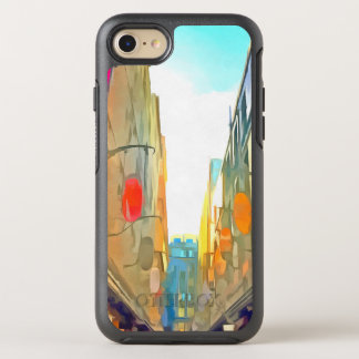Passage between colorful buildings OtterBox symmetry iPhone 8/7 case