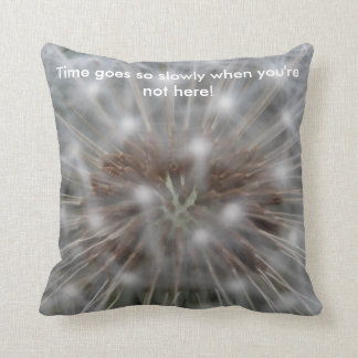 Passage of Time - Dandelion Clock Throw Pillow