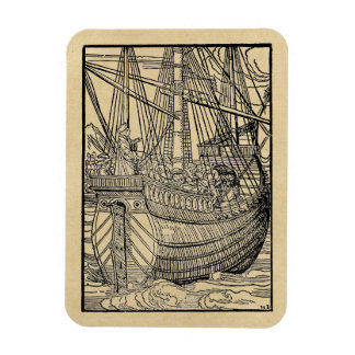 Passage on a Trading Ship Rectangular Photo Magnet
