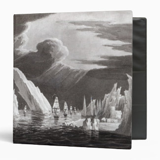 Passage through the Ice, engraved by D. Havell 3 Ring Binder