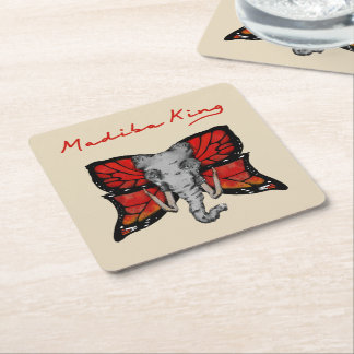 Passe-partout mounting square paper coaster
