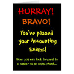 Passed Your Accounting Exams Funny Accountant Card