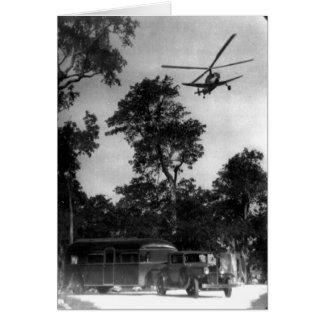 Passenger Autogyro, Florida Year-Round Club, 1930 Greeting Card