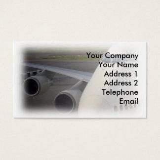 Passenger Jetliner on Tarmac Business Card