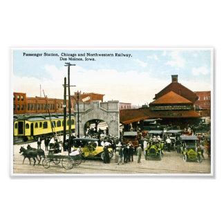 Passenger Station Chicago Northwestern Railroad Photo Print
