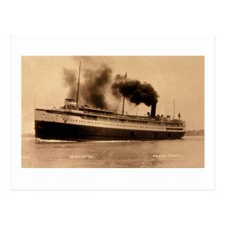 Passenger Steamer Juniata - Louis Pesha Postcard