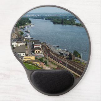 Passenger train in coarse home on the Rhine Gel Mouse Pad