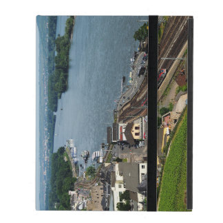 Passenger train in coarse home on the Rhine iPad Cover