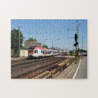 Passenger train in coarse home on the Rhine Jigsaw Puzzle