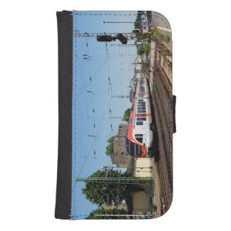 Passenger train in coarse home on the Rhine Samsung S4 Wallet Case