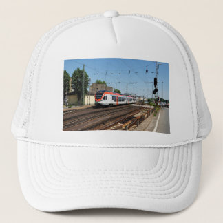 Passenger train in coarse home on the Rhine Trucker Hat
