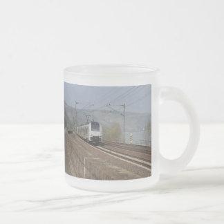 Passenger train in Niederheimbach Frosted Glass Coffee Mug