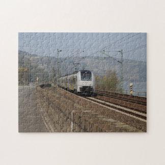 Passenger train in Niederheimbach Jigsaw Puzzle