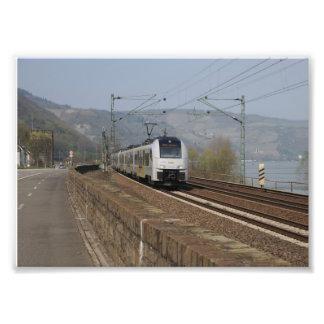 Passenger train in Niederheimbach Photo Print