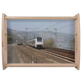 Passenger train in Niederheimbach Serving Tray